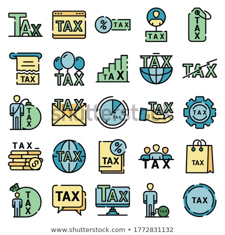 financial and legal services color icons set stock photo © decorwithme