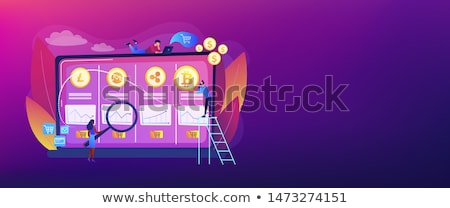 Handlowy biurko banner ekonomiczny danych Zdjęcia stock © RAStudio