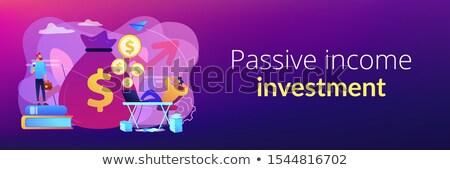 受動 収入 バナー ヘッダ 株式市場 投資 ストックフォト © RAStudio