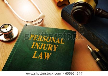 Młotek stetoskop papieru osobowych szkoda prawa Zdjęcia stock © AndreyPopov