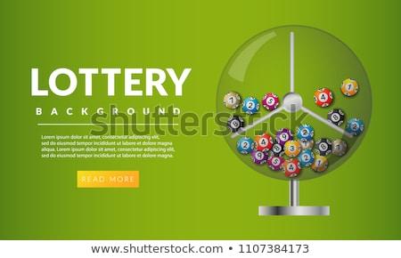 Loteria bingo maszyny wewnątrz biały Zdjęcia stock © m_pavlov