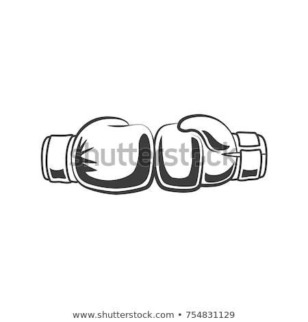 Attivo sport in bianco e nero vettore boxer Foto d'archivio © pikepicture