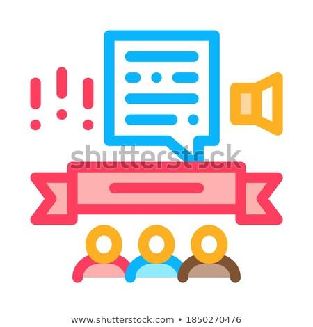 öğrenci duyuru ikon vektör Stok fotoğraf © pikepicture