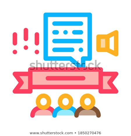 Student Graduates Announcement Icon Vector Outline Illustration Stock photo © pikepicture