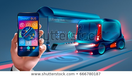 общественном транспорте подобно автобус городского Сток-фото © RAStudio