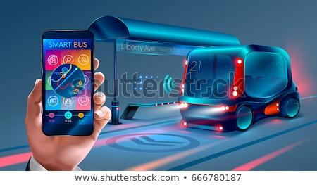 Autonomous public transport concept vector illustration. Stock photo © RAStudio