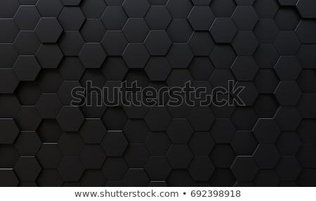 черный шестиугольник 3d иллюстрации аннотация дизайна сеть Сток-фото © ISerg