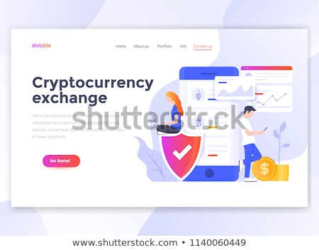 Landing page for cryptocurrency transactions Stock photo © ildogesto
