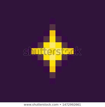 űr pixel játék citromsárga csillag kitörés Stock fotó © robuart