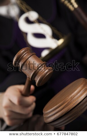 Striking mallet, Judgment concept, book background and Paragraph Stock photo © JanPietruszka