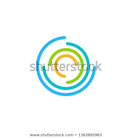 round circles logo concept global twist sphere contour lines logo symbol icon vector design Stock photo © gothappy