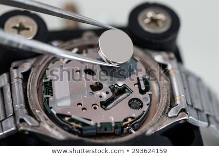 Batteria primo piano argento lavoro metal Foto d'archivio © AndreyPopov