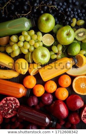 Various healthy fruits and vegetables formed in rainbow composition Stock photo © dash