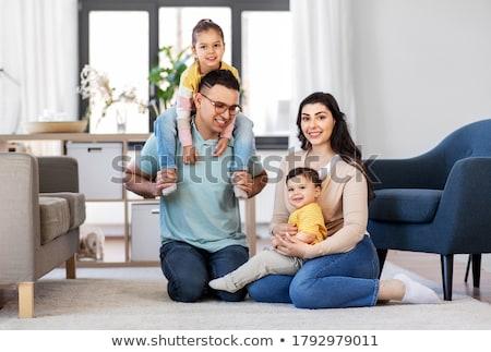 父 赤ちゃん 座って 階 ホーム ストックフォト © dolgachov