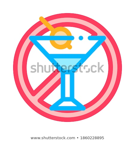 Allergen Free Sign Alcohol Vector Thin Line Icon Stock photo © pikepicture