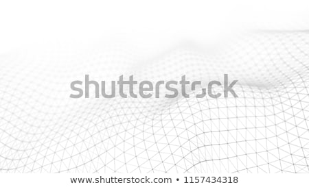 Abstract futuristic crypto blockchain. White dots and shapes in triangles. Modern digital technology Stock photo © karetniy