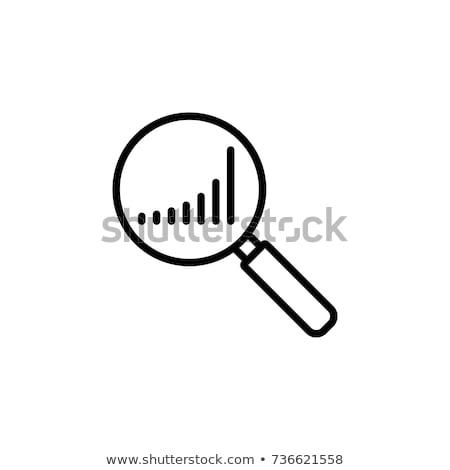 vektor · rangsor · illusztráció · nagyító · üzlet · absztrakt - stock fotó © get4net