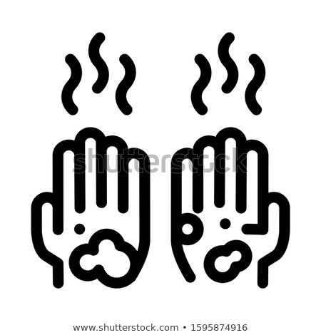 Sujo mãos ícone ilustração vetor Foto stock © pikepicture