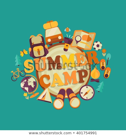 Summer Camp poster, Summer Holiday and Travel themed, Eco Camp, vector illustration. Stock photo © ikopylov