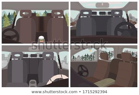 Coches diseno interior vehículos establecer marrón interiores Foto stock © robuart