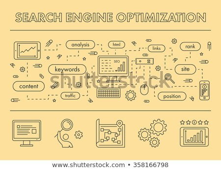 Social network monitoring concept landing page Stock photo © RAStudio