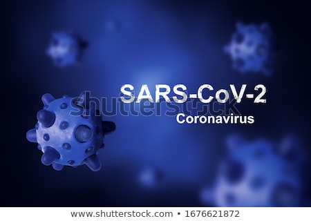 coronavirus pandemic banner with virus cell shapes Stock photo © SArts