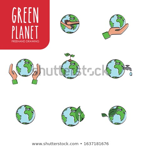Freehand icons - planets Stock photo © abdulsatarid