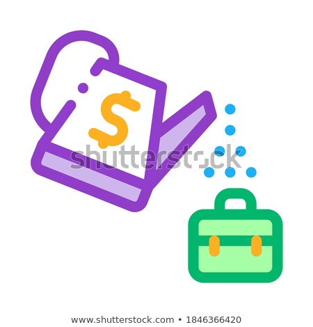 cash watering job cultivation icon vector outline illustration Stock photo © pikepicture