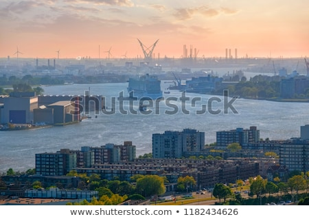 View of Rotterdam port and Nieuwe Maas river Stock photo © dmitry_rukhlenko