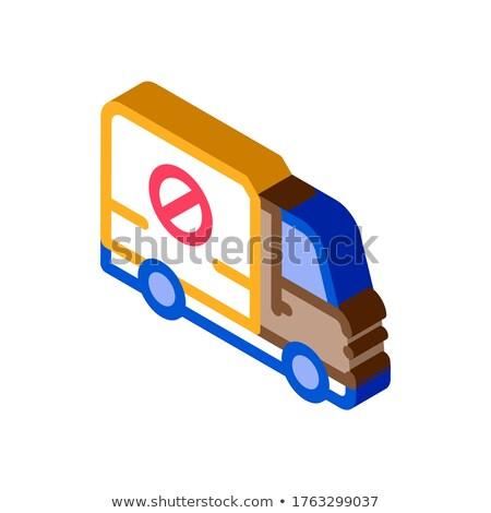 Doden vrachtwagen isometrische icon vector teken Stockfoto © pikepicture