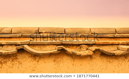 Orange tinted stone wall background Stock photo © duoduo