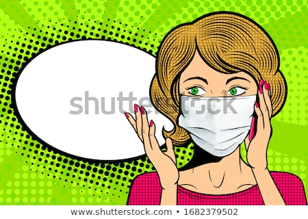 cômico · cara · ilustração · humanismo · cabeça · estilo - foto stock © DamonAce