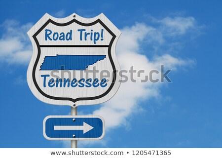 Tennessee autópálya tábla zöld USA felhő utca Stock fotó © kbuntu