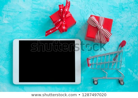 Tablet Computer and Gift stock photo © adamr
