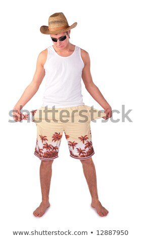 young man in shorts with splay empty pockets Stock photo © Paha_L