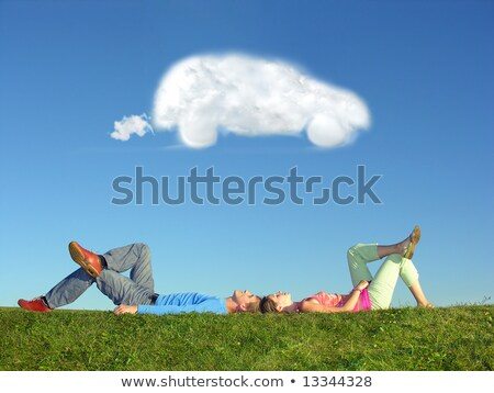 couple and cloud dream car Stock photo © Paha_L