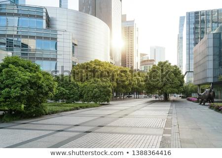 Handlowych centrum działalności miasta tłum szkła Zdjęcia stock © Paha_L