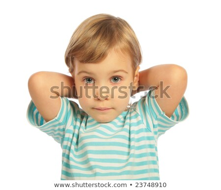 little girl put hands on a neck close up stock photo © paha_l