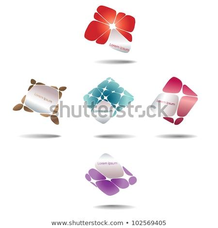 coloré · résumé · 10 · icônes - photo stock © cidepix