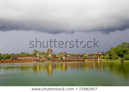 Storm Cloud Above Angkor Wat Stock photo © rognar