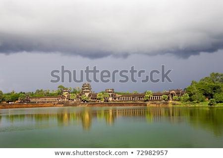 Angkor · Wat · templo · puesta · de · sol · Camboya · antigua · arquitectura - foto stock © rognar