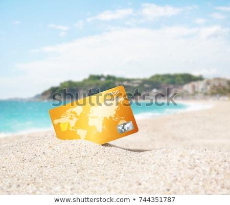 beyaz · kâğıt · kum · kabukları · plaj · doğa - stok fotoğraf © inganielsen