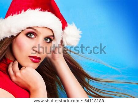 belle · Noël · femme · regarder · sérieux · blanche - photo stock © Rob_Stark