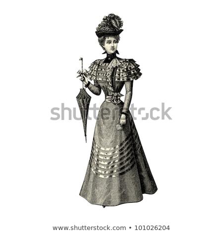 Elegant vintage fashion lady Stock photo © glyph