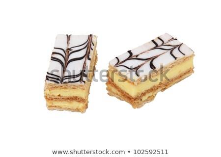 vanille · vla · chocolade · dessert · room · geserveerd - stockfoto © photography33