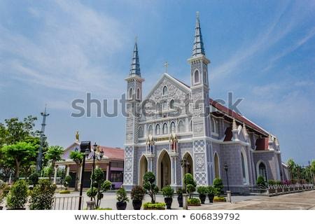 Antiguos edificio de la iglesia Europa cielo iglesia azul Foto stock © ilolab