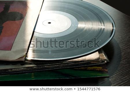 Musica retro vintage record media vinile Foto d'archivio © deyangeorgiev