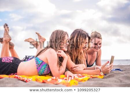spiaggia · magnifico · bellezza · occhiali · da · sole · cielo · donne - foto d'archivio © photography33