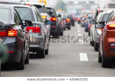 Atasco de tráfico carretera contaminación medio ambiente gas coche Foto stock © ssuaphoto
