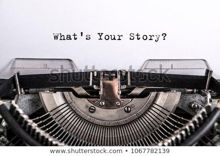 何 · 物語 · 書かれた · 黒板 · ビジネス · にログイン - ストックフォト © bbbar